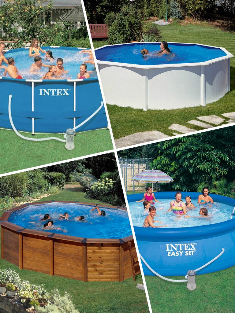Piscinas desmontables sencillez y econom a piscina ideal for Materiales para construir una piscina