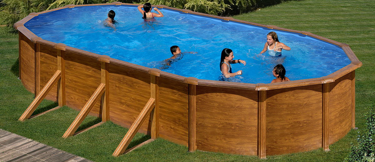 Piscinas desmontables sencillez y econom a piscina ideal for Jardines con piscinas desmontables