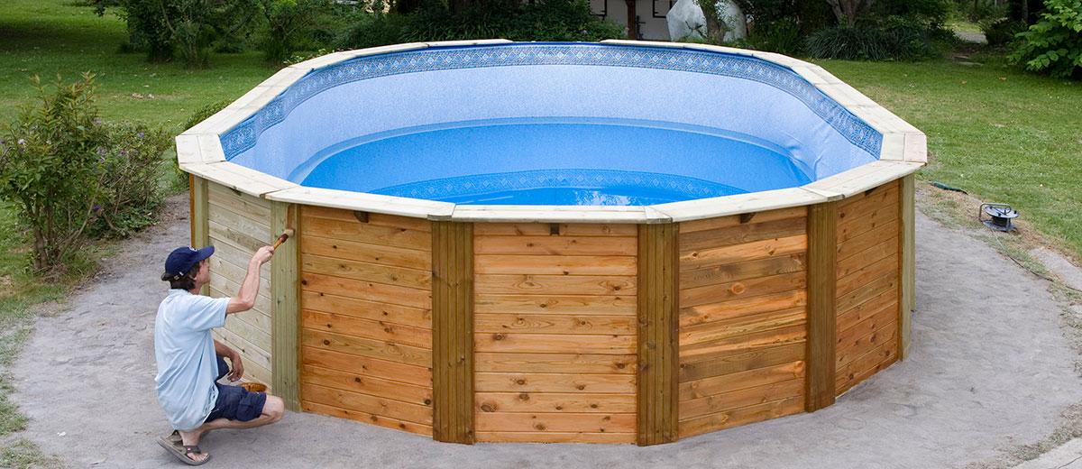 C mo instalar una piscina de madera piscina ideal - Piscinas de madera semienterradas ...